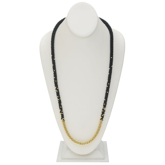 Long Beaded Kumihimo Necklace - Black & Gold - Exclusive Beadaholique Jewelry Kit