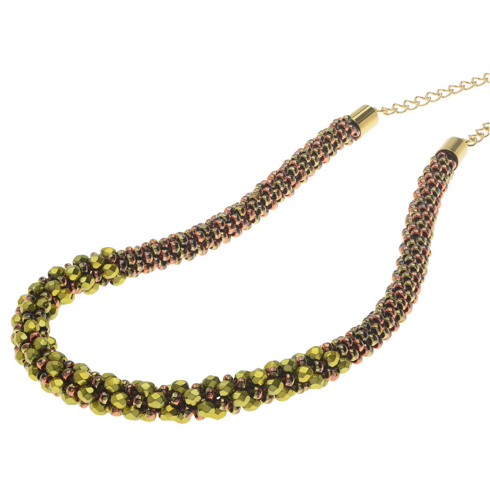 Deluxe Beaded Kumihimo Necklace - Forest Meadow - Exclusive Beadaholique Jewelry Kit