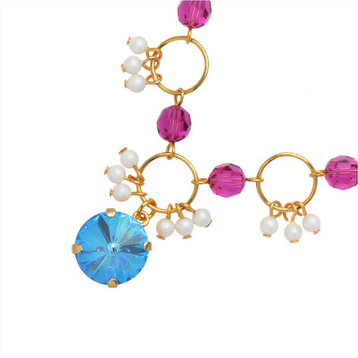 The Hamptons Necklace featuring Swarovski Crystals in Ocean - Exclusive Beadaholique Jewelry Kit