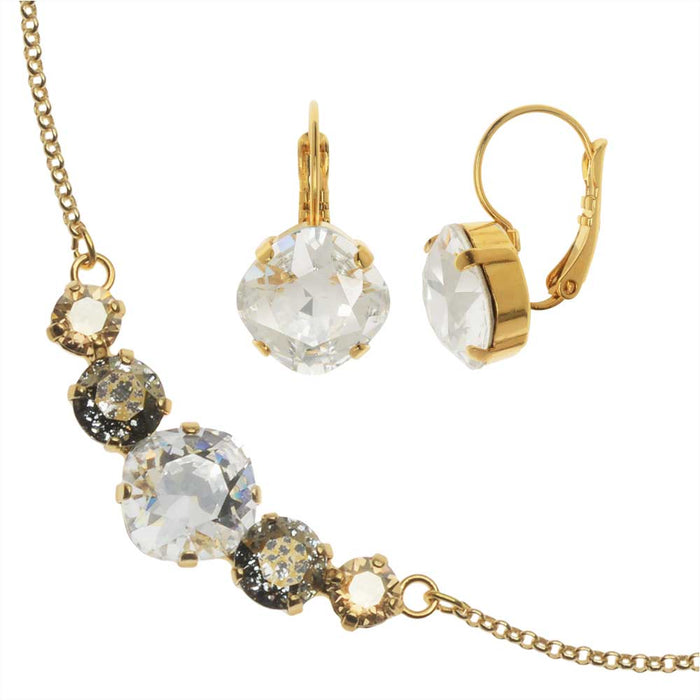 Modern Elegance Jewelry Set-Swarovski Crystal Evening Soiree- Exclusive Beadaholique Jewelry Kit