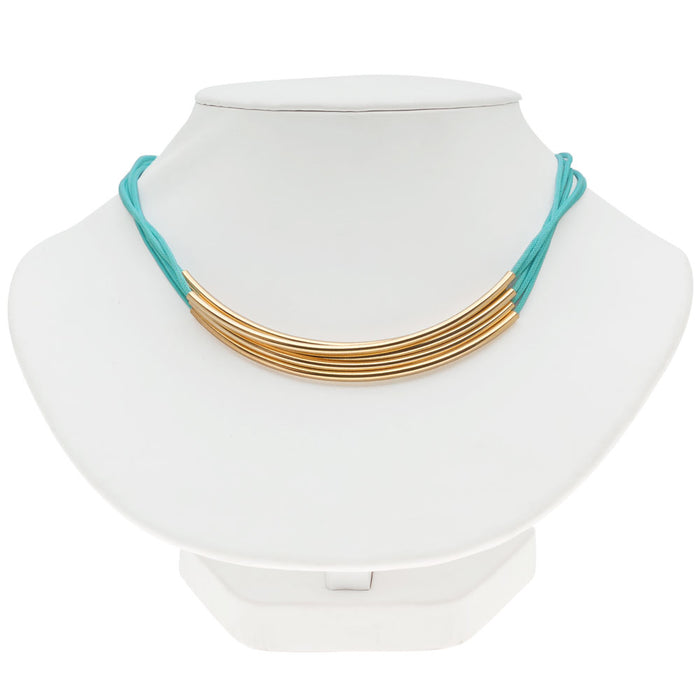 Noodle Bead Necklace in Turquoise