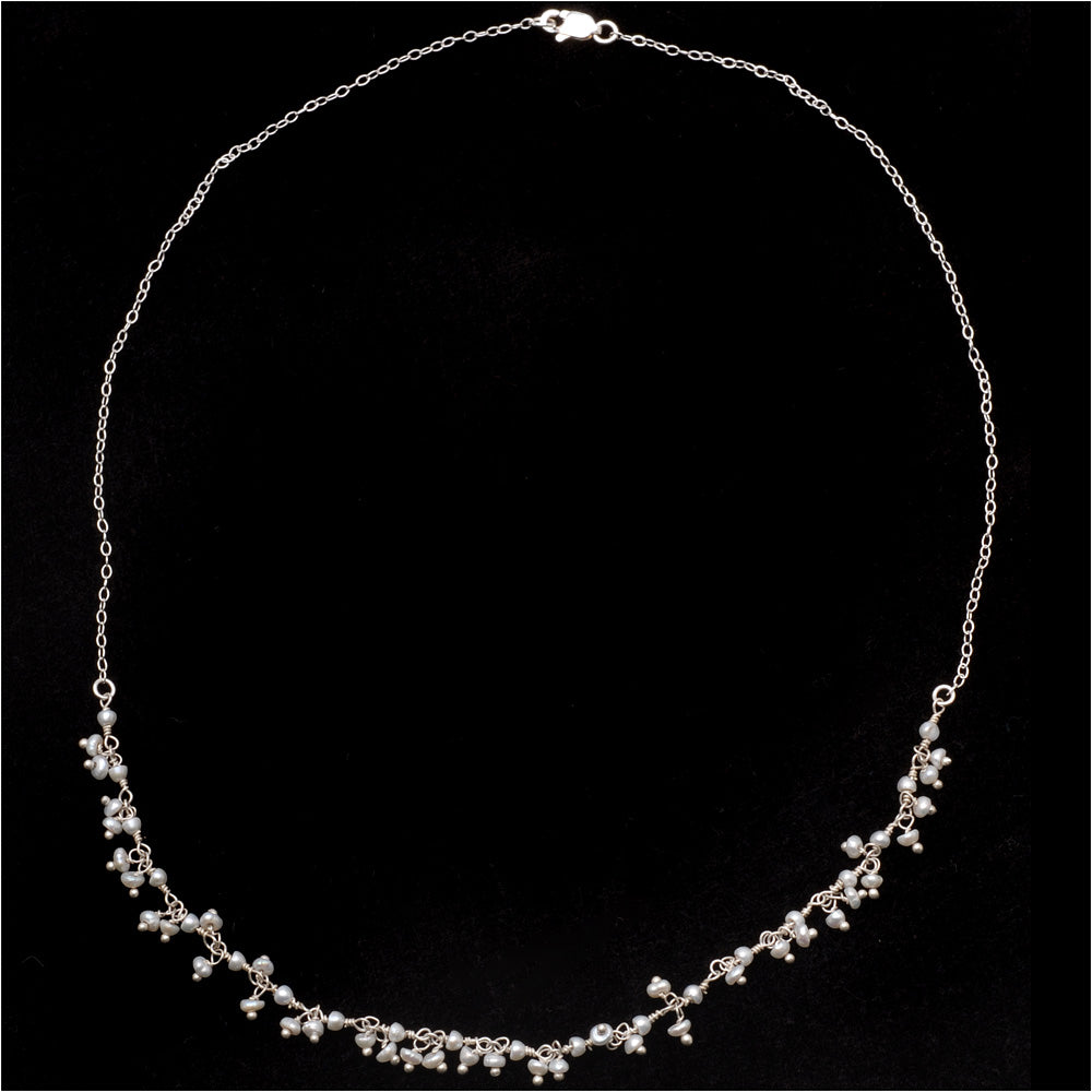 Simply Beautiful Pearl Chain Necklace
