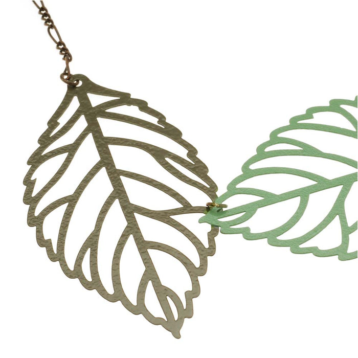 Retired - Floating Leaves Necklace