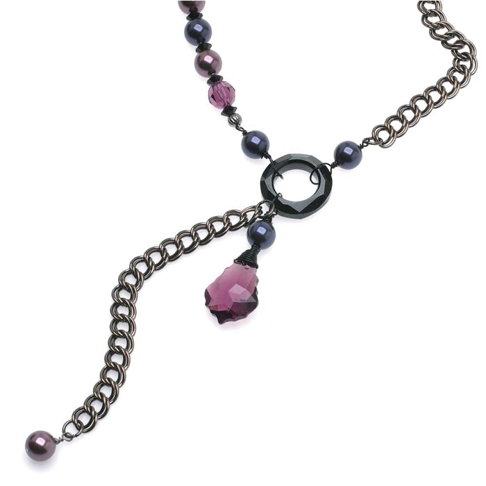 Retired - Purple Faux Lariat Necklace