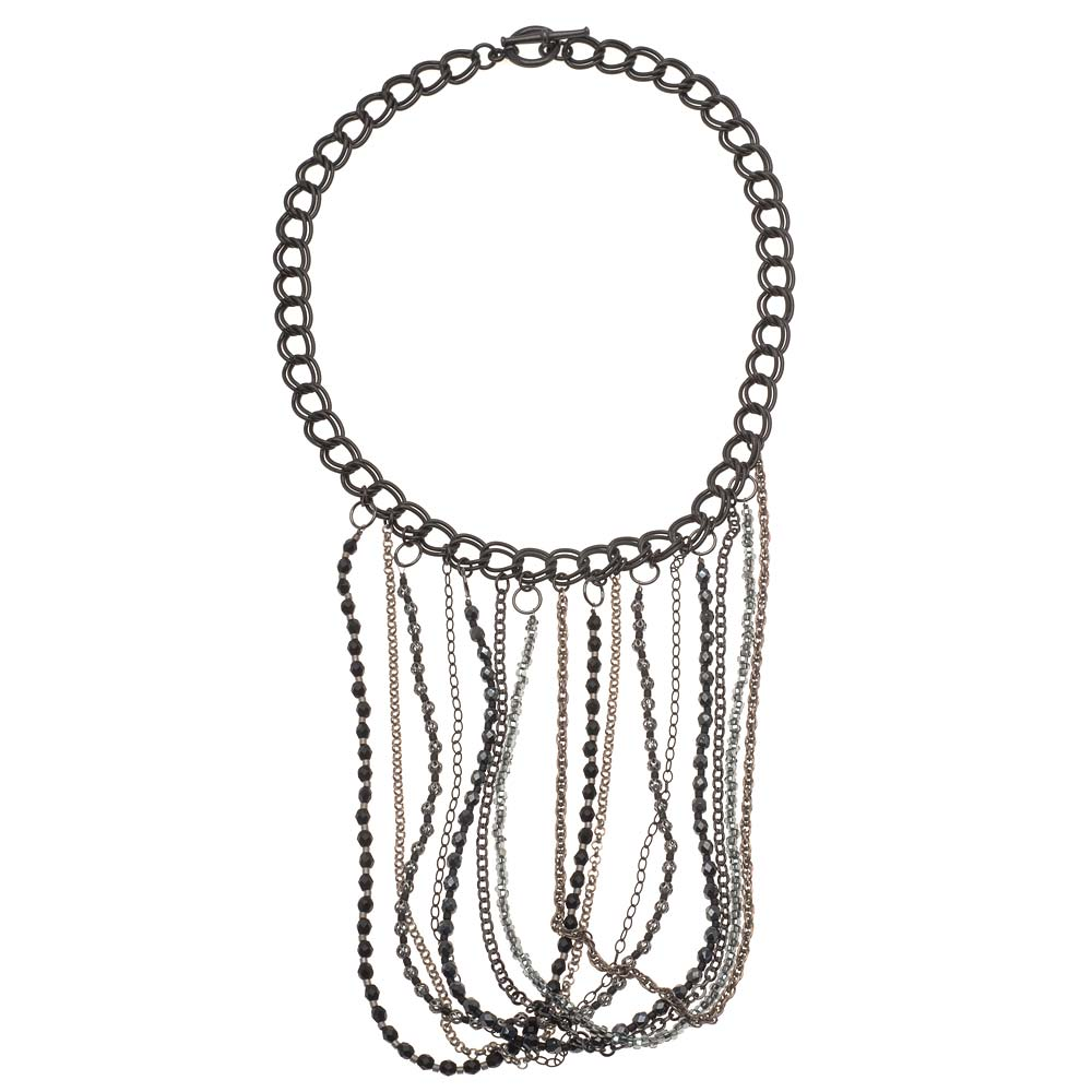 Retired - Looped Fringe Statement Necklace