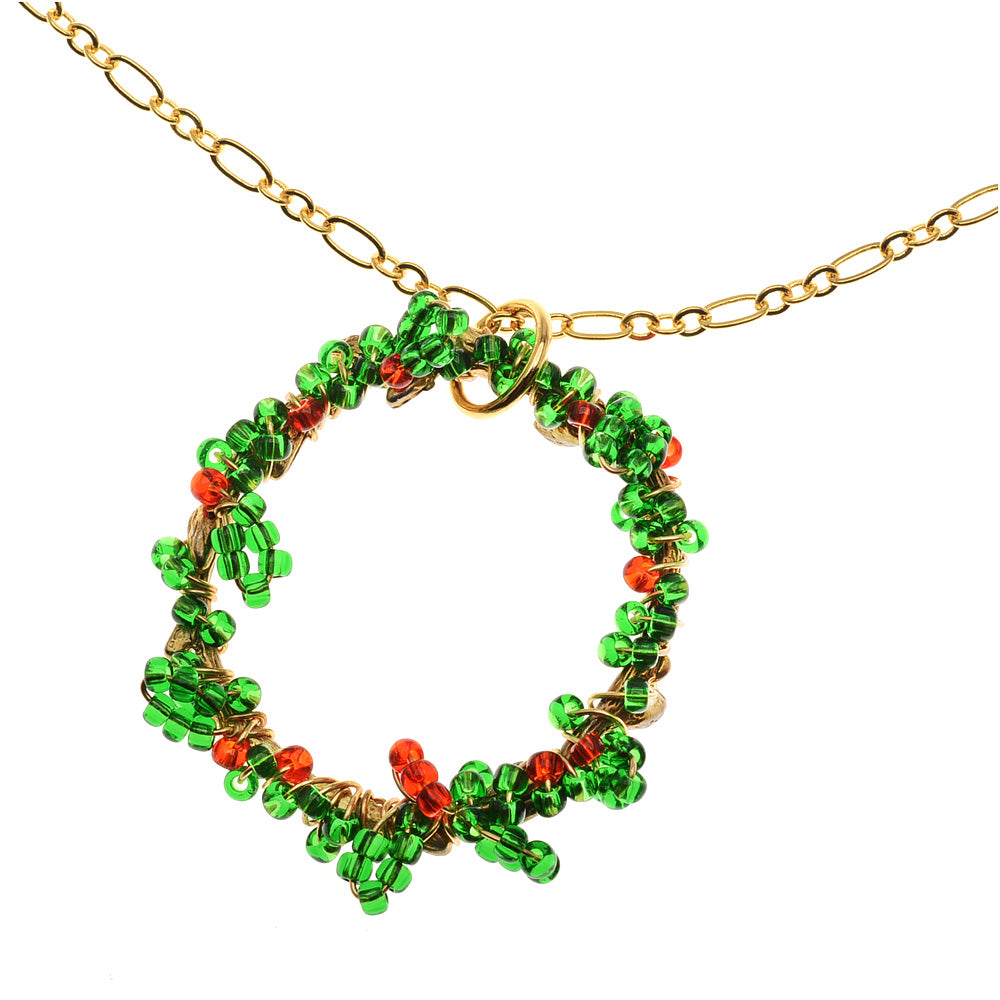 Retired - Christmas Wreath Necklace