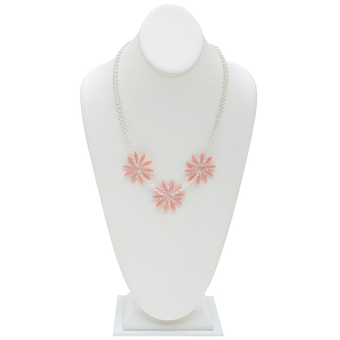 Retired - Pink Floral Parade Necklace