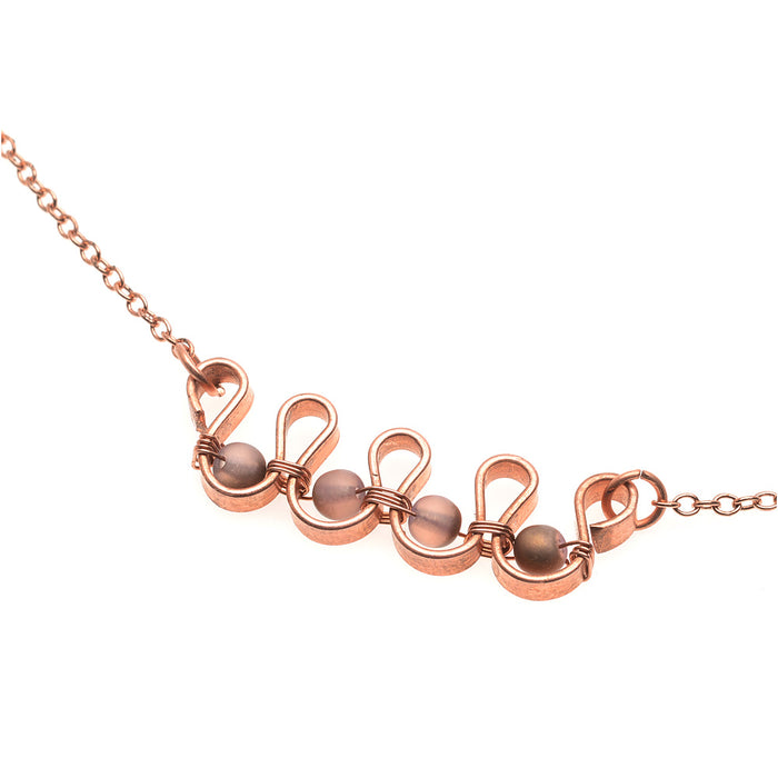 Waves of Copper Necklace
