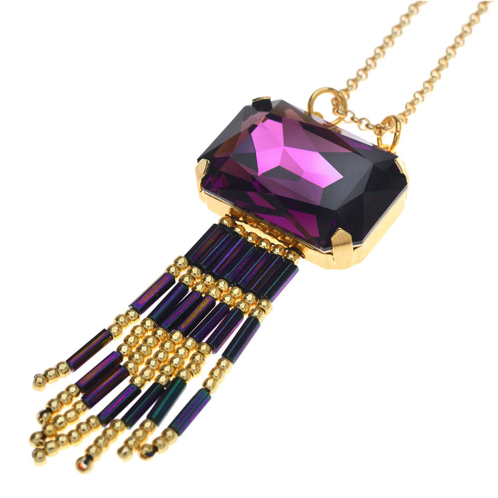 Retired - Amethyst Fringe Necklace