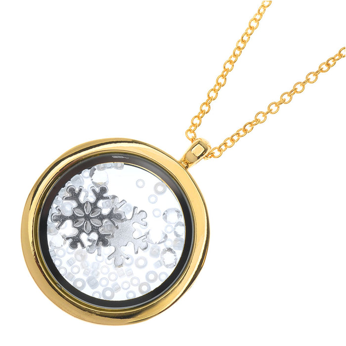 Retired - Tumbling Snow Locket Necklace