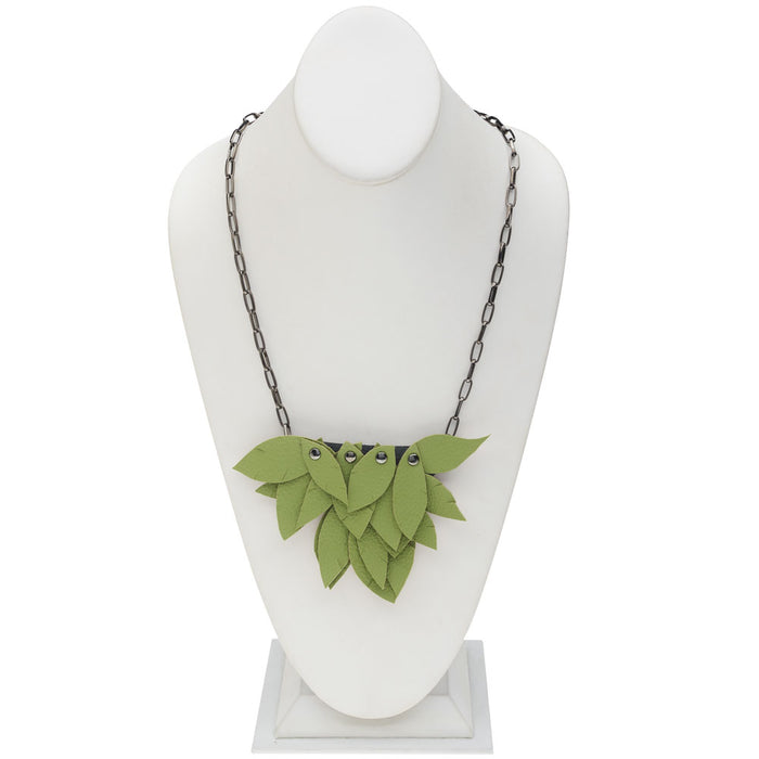 Retired - Fringed Leaves Necklace
