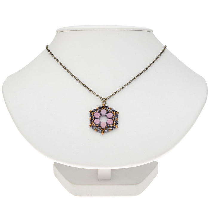Lilac Iris Pendant Necklace