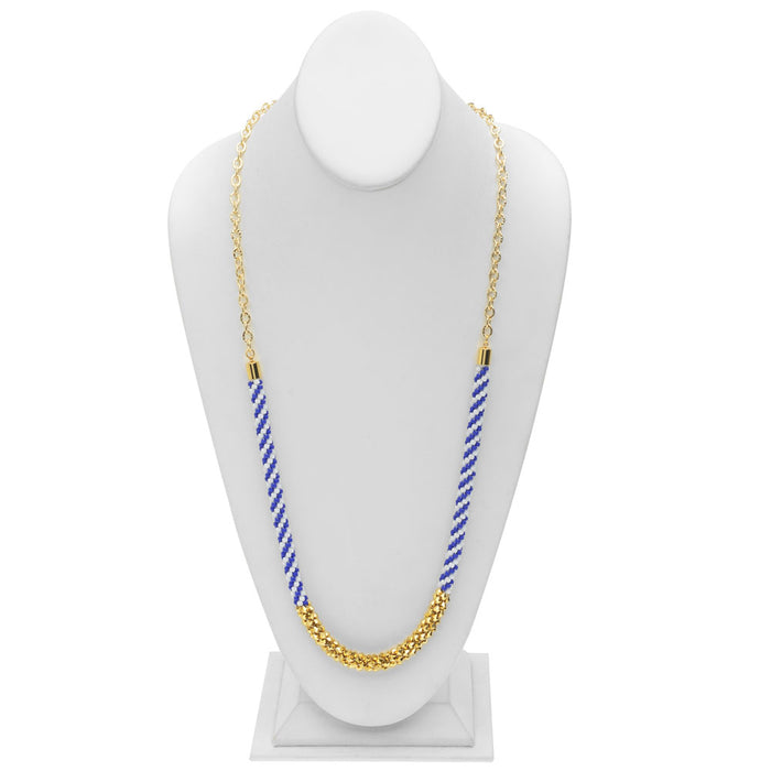Just Beachy Beaded Kumihimo Necklace