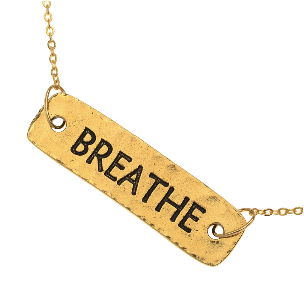 Retired - Gold Breathe Necklace