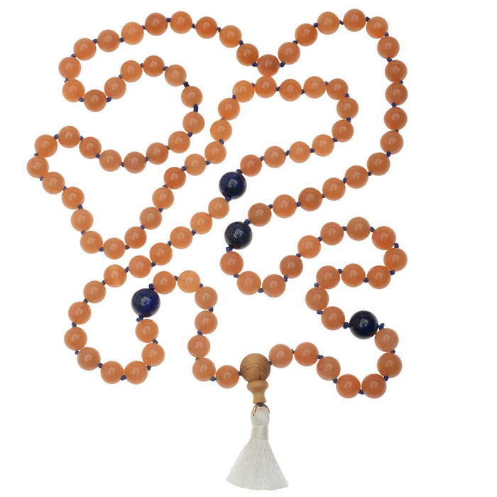 Retired - Orange Aventurine Lapis Zen Style Mala