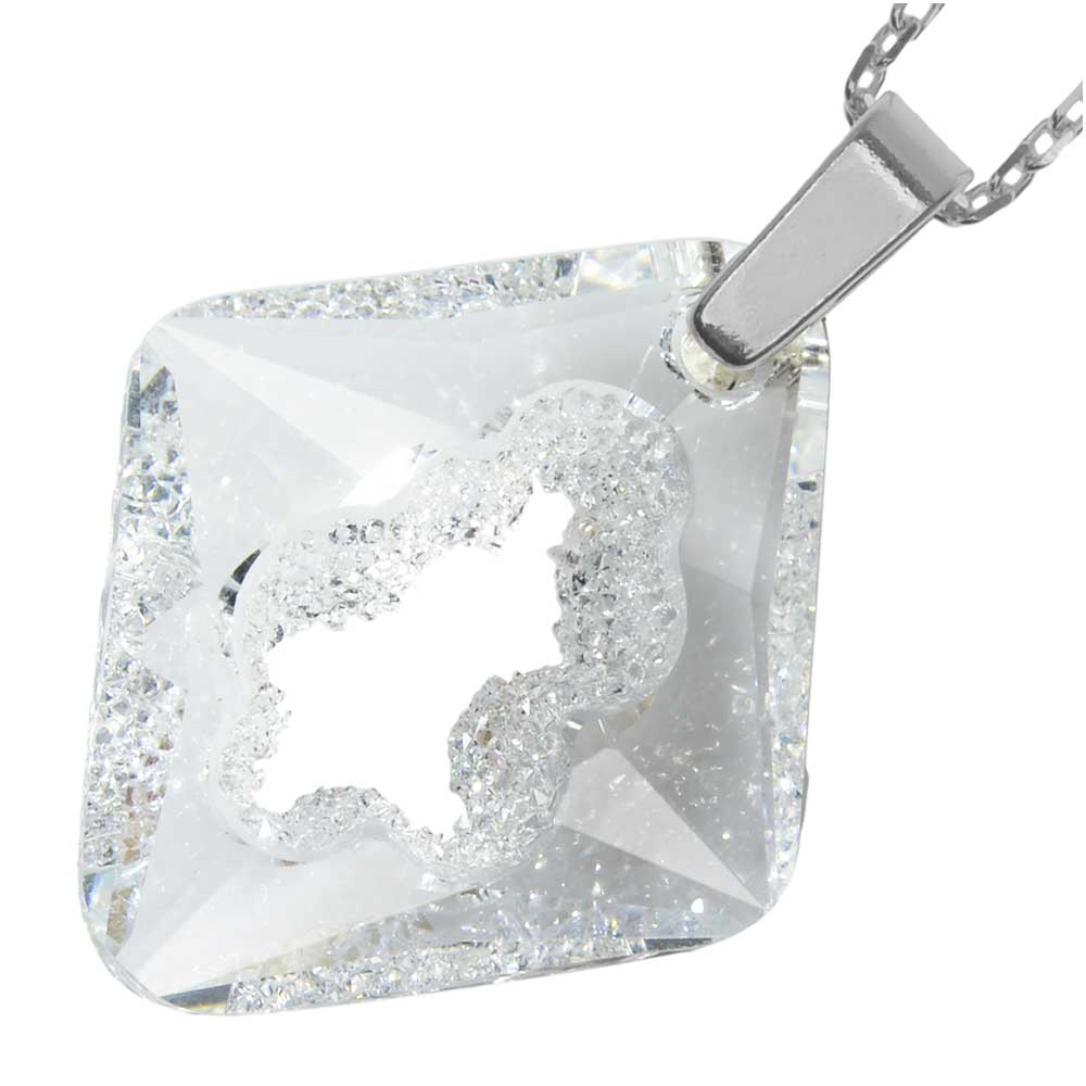 Growing Crystal Rhombus Necklace