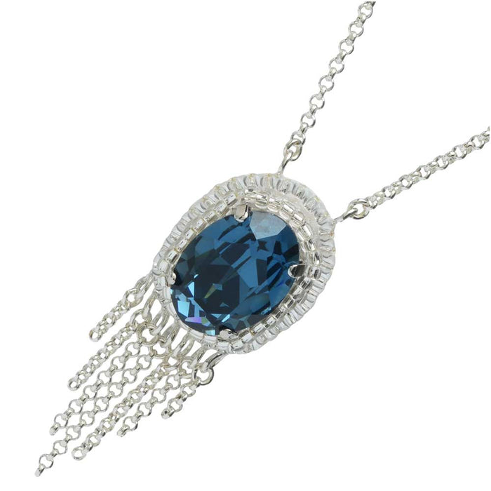 Retired - Deep Blue Jewel Necklace