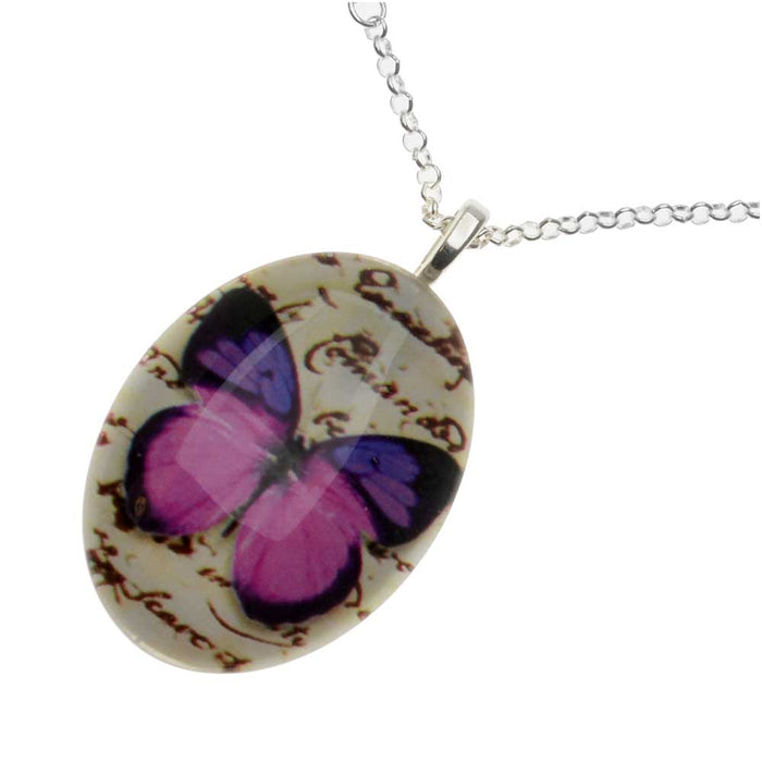 Retired - Ultra Violet Butterfly Necklace