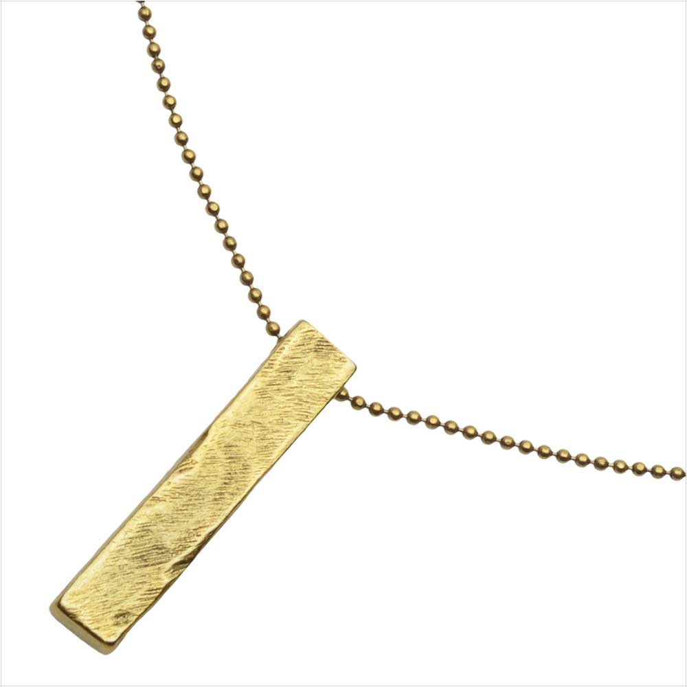 Retired - Modern Art Necklace in Gold