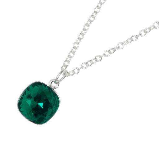 May Birthstone Necklace featuring Swarovski Crystal