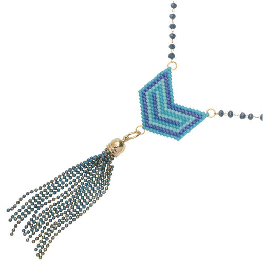 Chevron Blues Necklace
