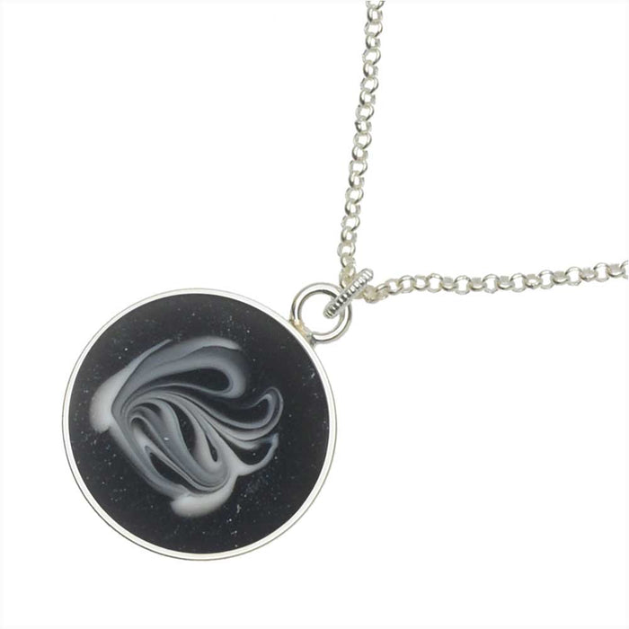 Black & White Swan Dance Necklace