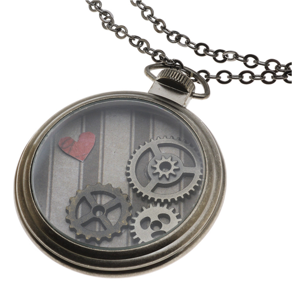 Retired - Tim Holtz Pocket Watch Pendant Necklace