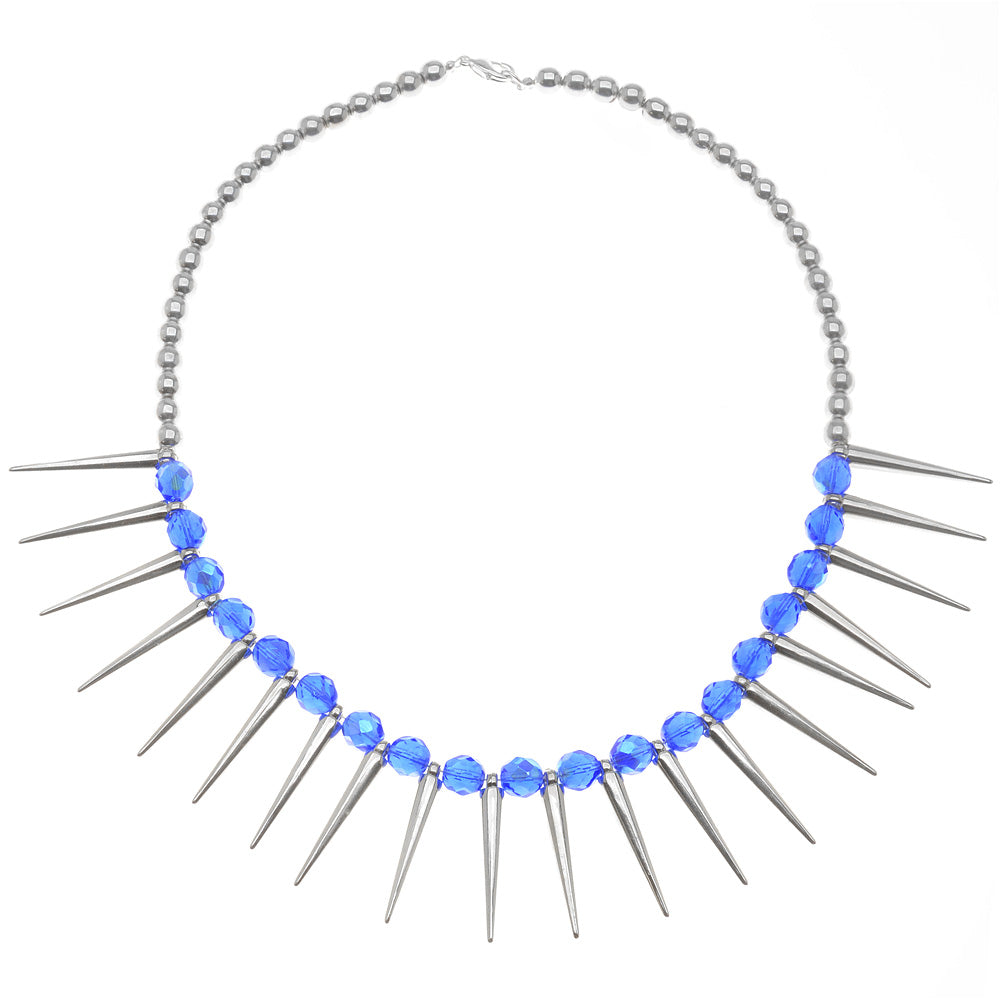 Retired - Sapphires & Spikes Necklace
