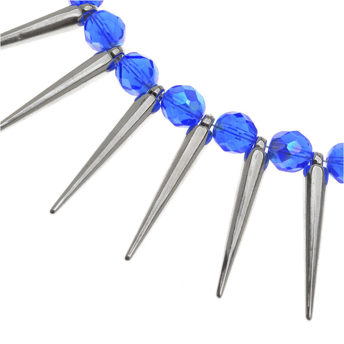 Sapphires & Spikes Necklace
