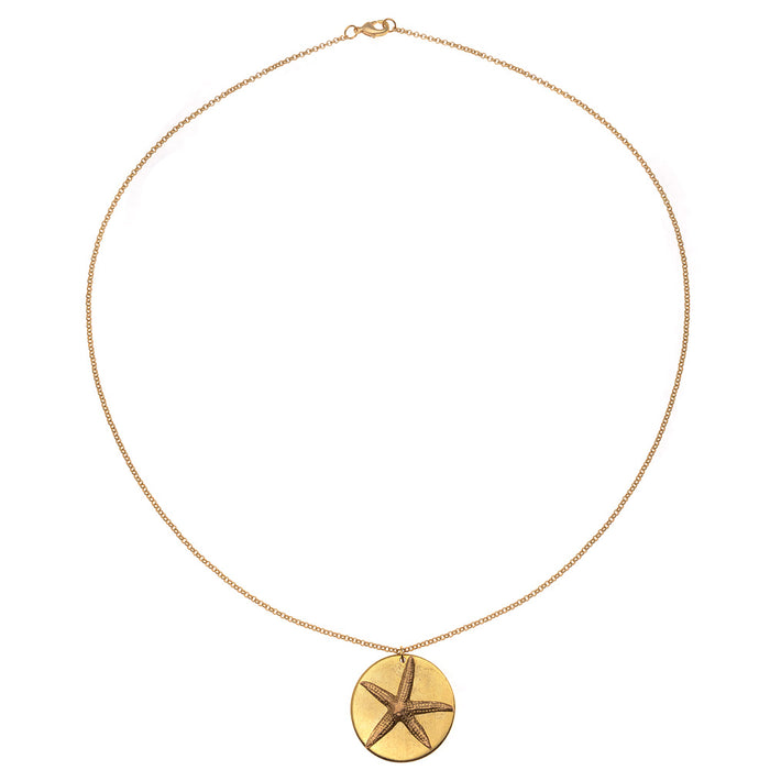Retired - Gold Starfish Necklace