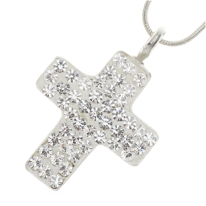 Retired - Crystal Cross Necklace