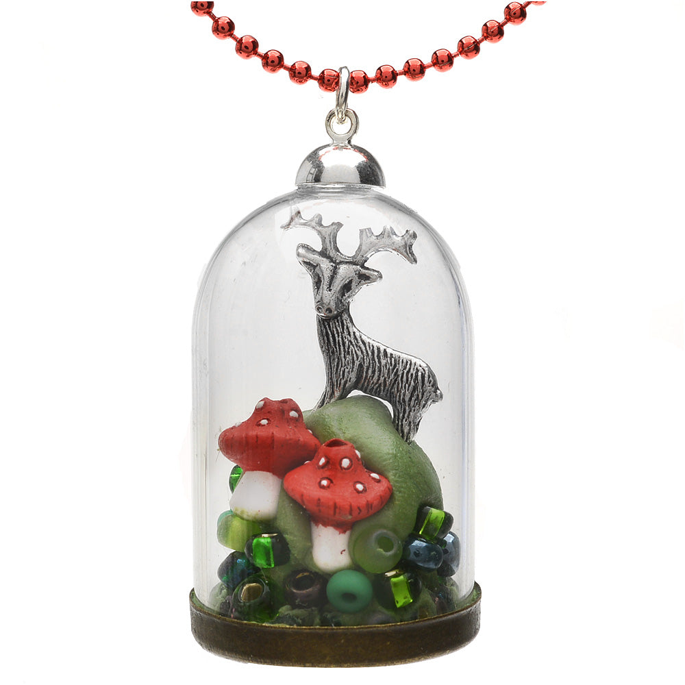 Retired - Woodland Glass Dome Necklace