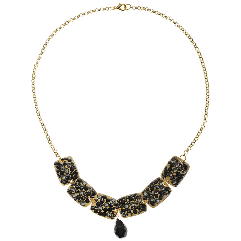 Retired - Jeweled Noir Necklace