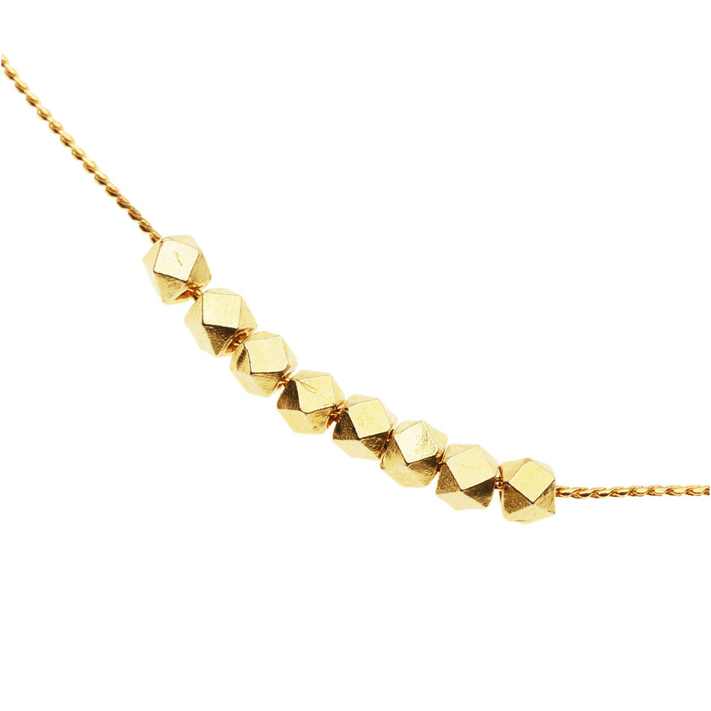 Golden Ellipses Necklace