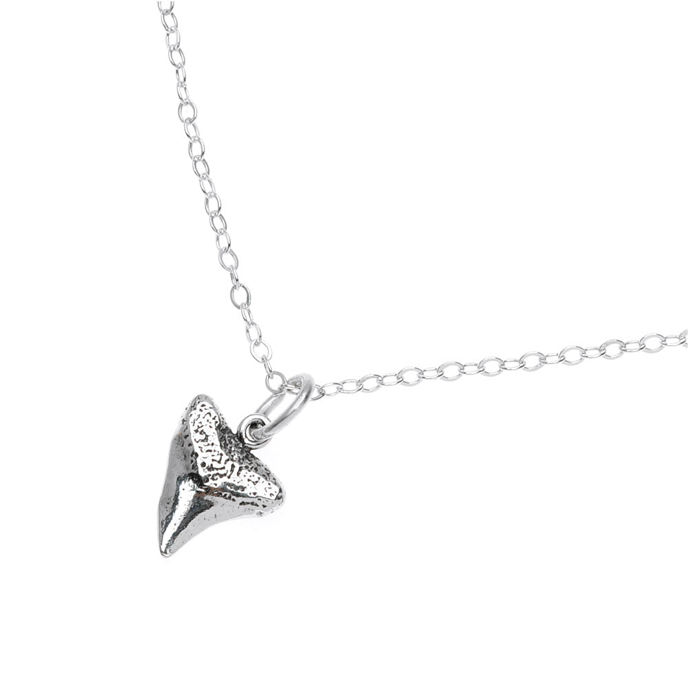 Retired - Sterling Shark Tooth Necklace