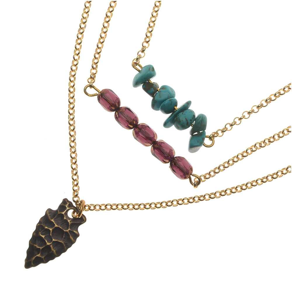 Retired - Tribal Trio Necklace