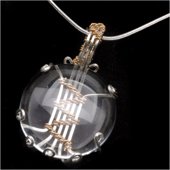 Retired - Wire Wrapped Soumak Glass Pendant by Wyatt White