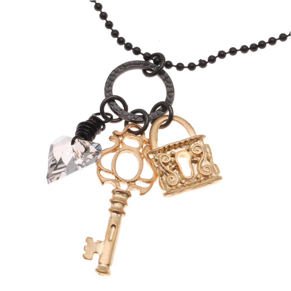 Retired - Keys of Gold Necklace