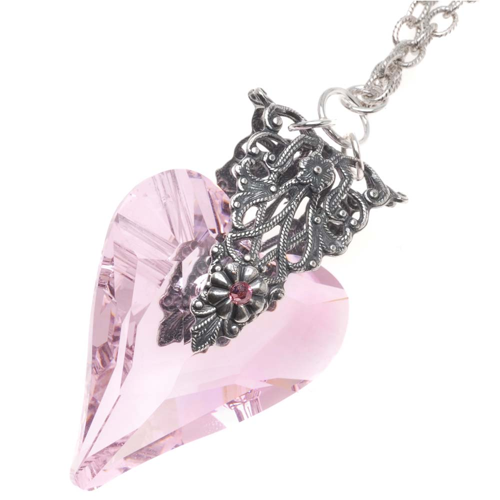 Retired - Pink Hopeful Heart Necklace