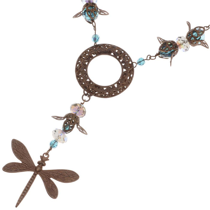 Retired - Dragonflies at Dusk Necklace