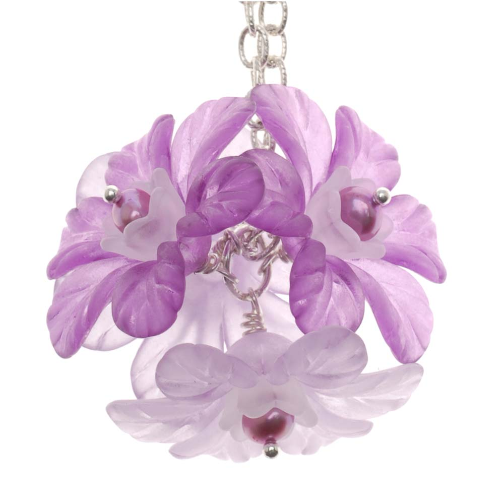 Retired - Lucite Flower Ball Necklace
