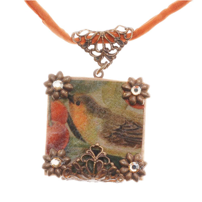 Retired - 'Scrabble' Tile Bird Pendant