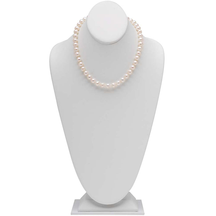 Retired - Classic 16 Inch Knotted Pearl Necklace