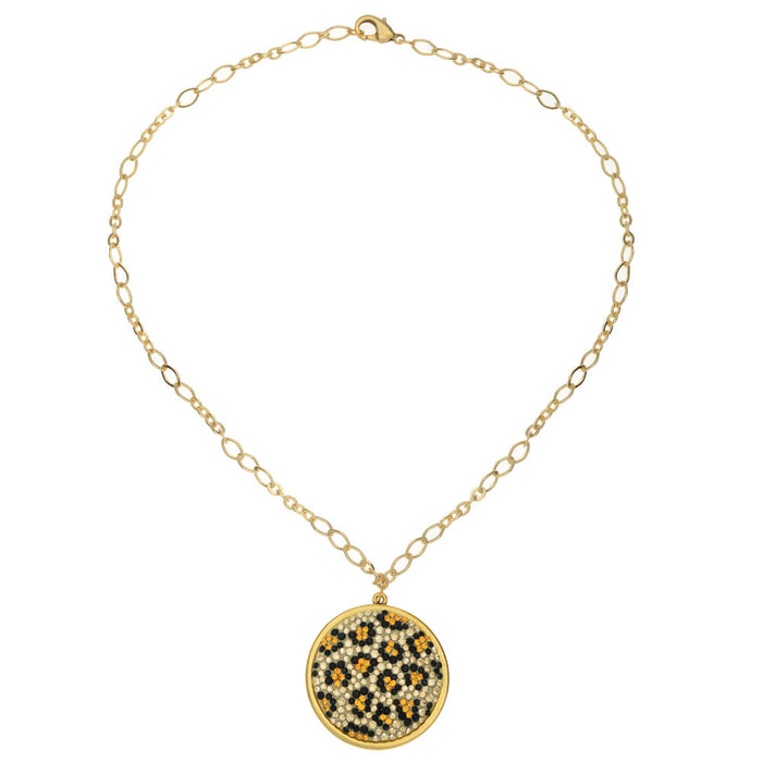 Retired - Leopard Print Crystal Necklace