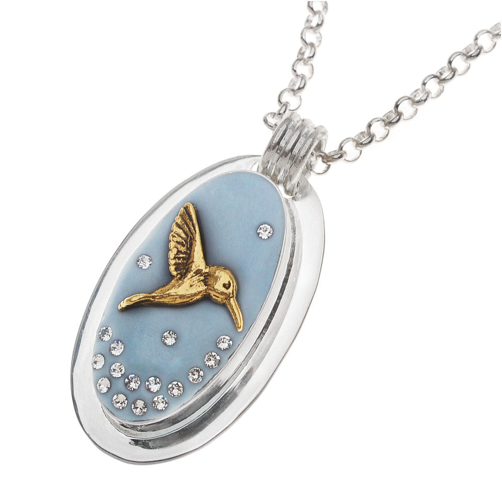 Retired - Wedgewood Hummingbird Necklace