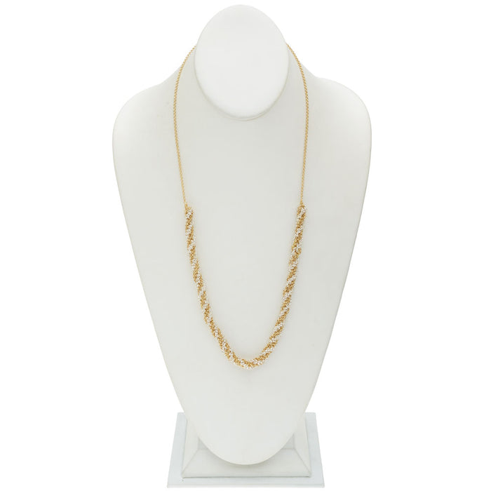 Kumihimo Braided Chain Necklace - Gold & Silver