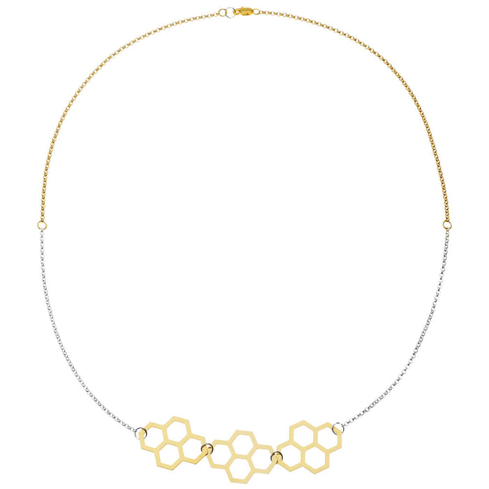Retired - Geometric Honeycomb Necklace
