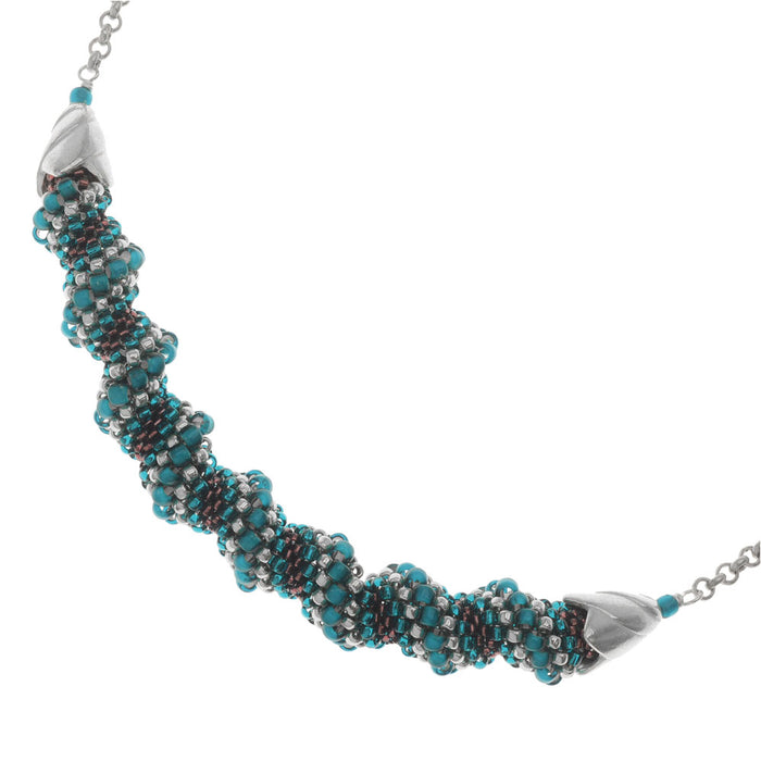 Retired - Teal Twirl Necklace