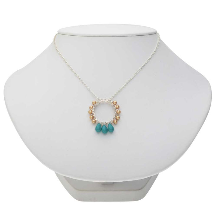 Cyan Hoop Necklace