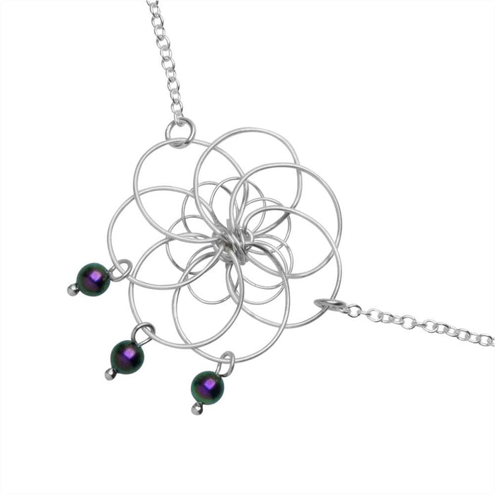 African Violet Necklace